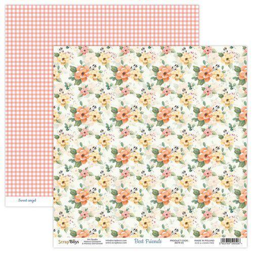 ScrapBoys Best Friends paper sheet DZ BEFR-05 190gr 30,5x30,5cm (02-21)
