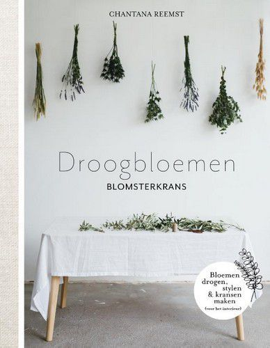 Kosmos Boek - Blomsterkrans - Droogbloemen Chantana Reemst (12-20)