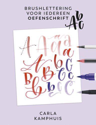 Kosmos Boek - Brushlettering voor iedereen - Oefenschrift ABC Carla Kamphuis (09-20) was 118742/2234