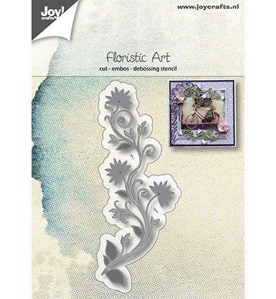 6002/1169 Snij-embos-debosstencil Floristic Art