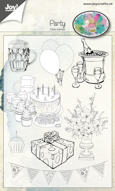 Joy! crafts - Clearstamp - Party - 6410/0480