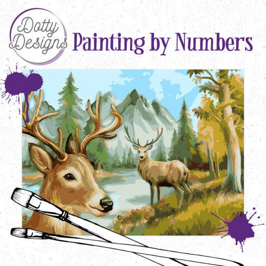 Dotty Designs Painting by Numbers - Deer