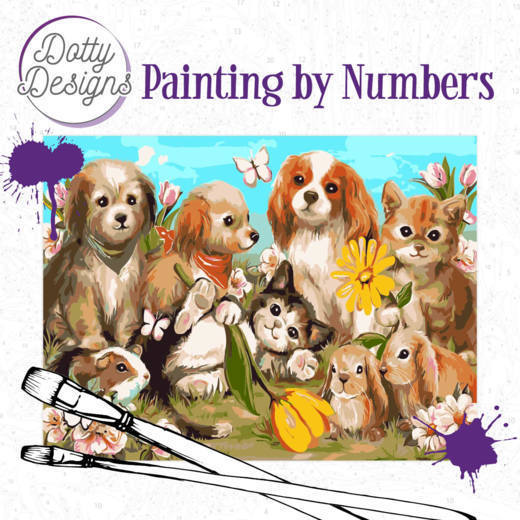 Dotty Designs Painting by Numbers - Pets