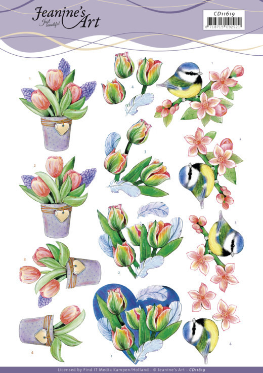 3D Cutting Sheet -Jeanine's Art - Tulips and Blossom