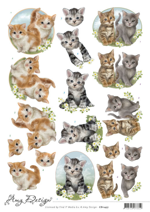 3D Cutting Sheet - Amy Design - Cats