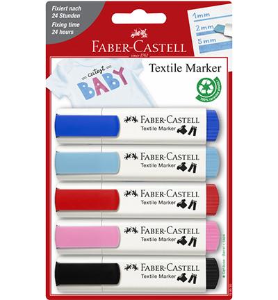 Textielmarkers Faber-Castell,