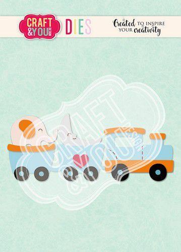 Craft&You Cutting Die Trein - Baby Toy CW110 (02-21)