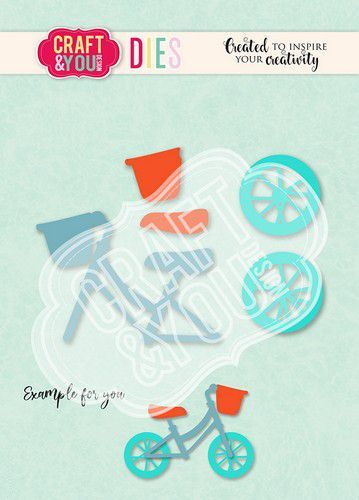 Craft&You Cutting Die Baby Fiets CW114 (02-21)