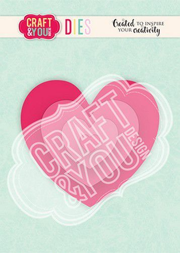 Craft&You Cutting Die Hearts 2 CW124 (02-21)