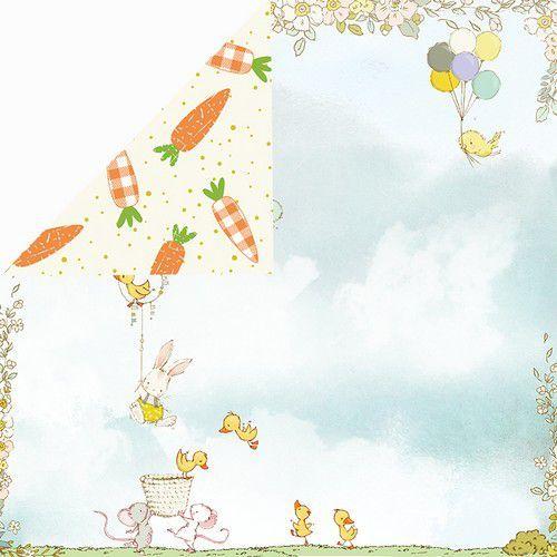 Craft&You Hopping Bunnies Scrapbooking single paper 12x12 CP-HBU01 (02-21)