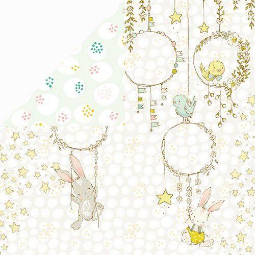 Craft&You Hopping Bunnies Scrapbooking single paper 12x12 CP-HBU02 (02-21)