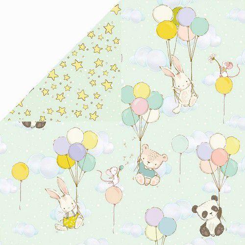Craft&You Hopping Bunnies Scrapbooking single paper 12x12 CP-HBU04 (02-21)