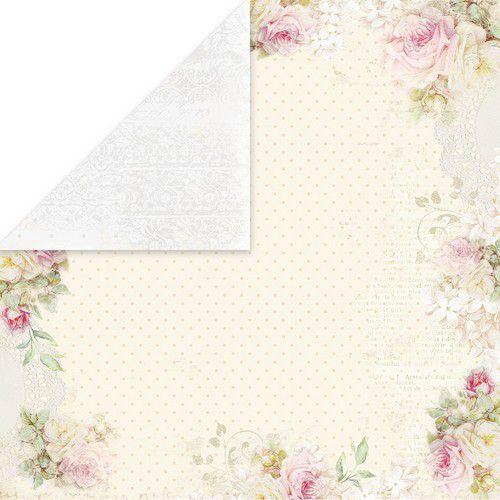 Craft&You Flower Romance Scrapbooking single paper 12x12 CP-FR04 (02-21)