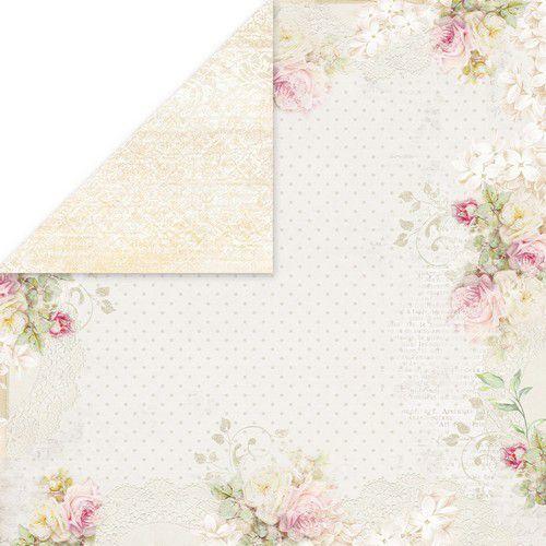 Craft&You Flower Romance Scrapbooking single paper 12x12 CP-FR06 (02-21)