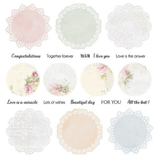 Craft&You Flower Romance sheet elements to cut out 12x12 CP-FR07 (02-21)