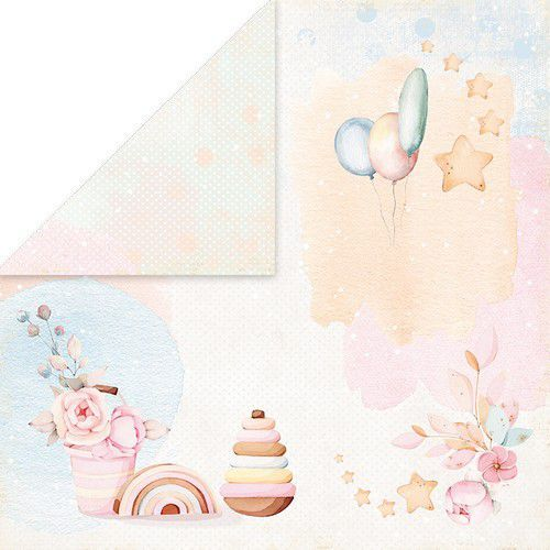 Craft&You Baby Toys Scrapbooking single paper 12x12 CP-BT01 (02-21)