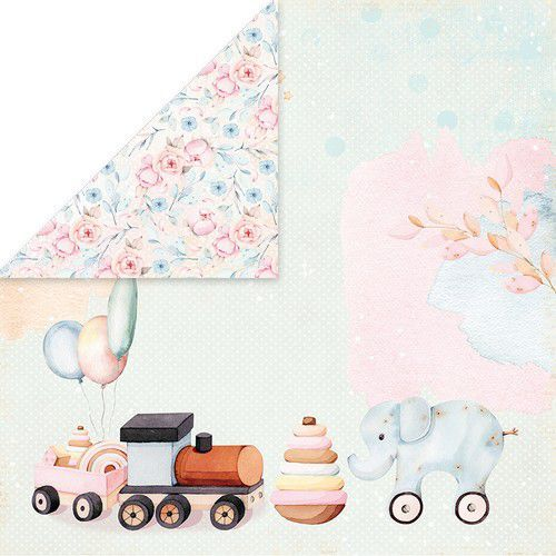 Craft&You Baby Toys Scrapbooking single paper 12x12 CP-BT02 (02-21)