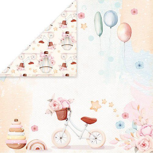 Craft&You Baby Toys Scrapbooking single paper 12x12 CP-BT05 (02-21)