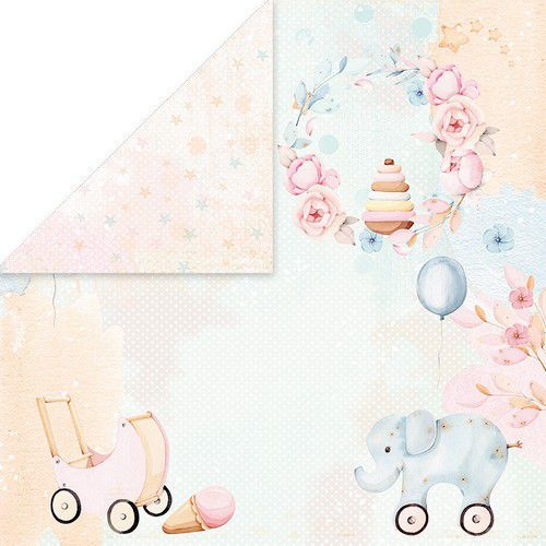 Craft&You Baby Toys Scrapbooking single paper 12x12 CP-BT06 (02-21)