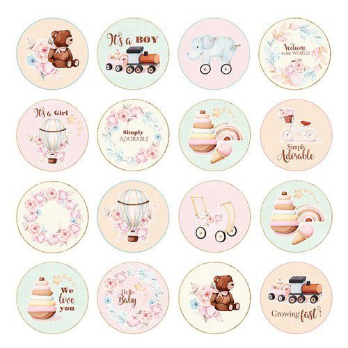 Craft&You Baby Toys sheet elements to cut out 12x12 CP-BT07 (02-21)