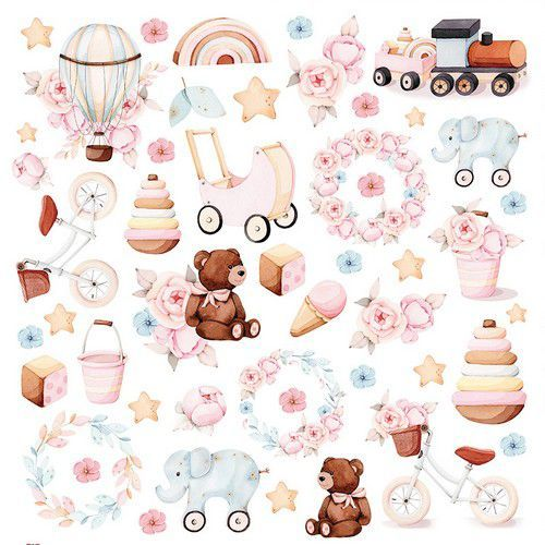 Craft&You Baby Toys sheet elements to cut out 12x12 CP-BT08 (02-21)