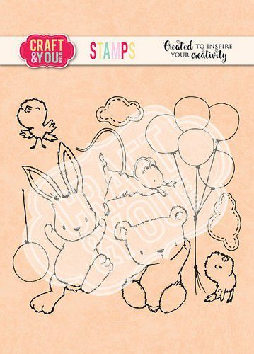 Craft&You Clearstempel Pasen set 1 CS012 (02-21)