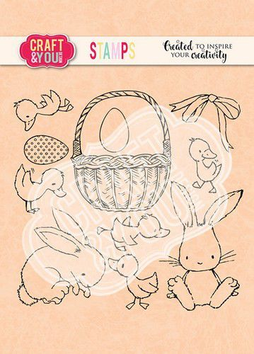 Craft&You Clearstempel Pasen set 2 CS013 (02-21)