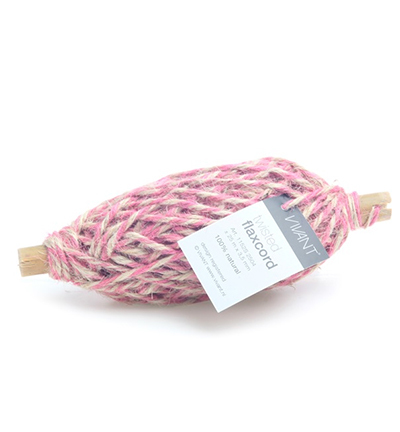 Twisted Flaxcord, Pink