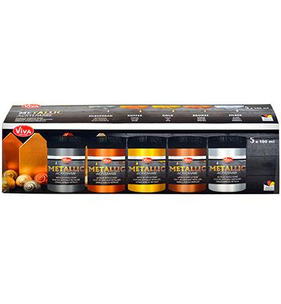 Metallic Acrylfarbe Set