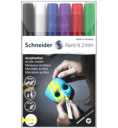 Acryl Marker Schneider Paint-it 310, etui 6st.
