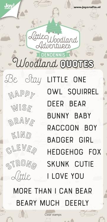 Joy! crafts - Clearstamp - Dendennis - Little Woodland Adventures - Teksten -