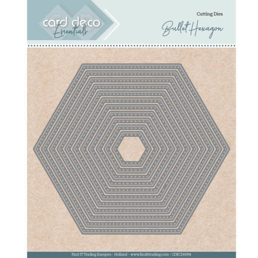 Card Deco Essentials - Nesting Dies - Bullet Hexagon