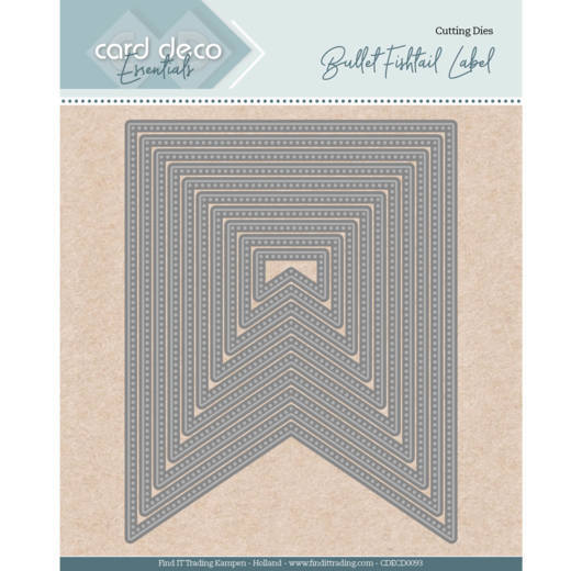 Card Deco Essentials - Nesting Dies - Bullet fishtail label