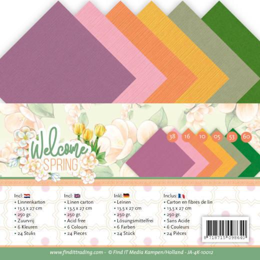 Linen Cardstock Pack - 4K - Jeanine's Art  Welcome Spring