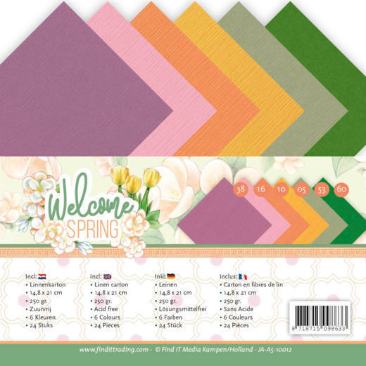 Linen Cardstock Pack - A5 - Jeanine's Art  Welcome Spring