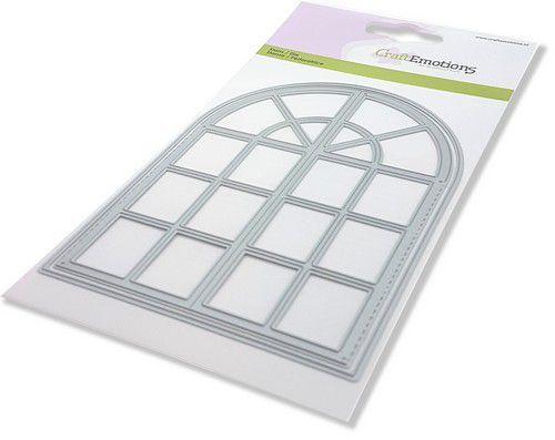 CraftEmotions Die - toog venster Card 10,5x14,8cm 10,2 x 14,1 cm (02-21)