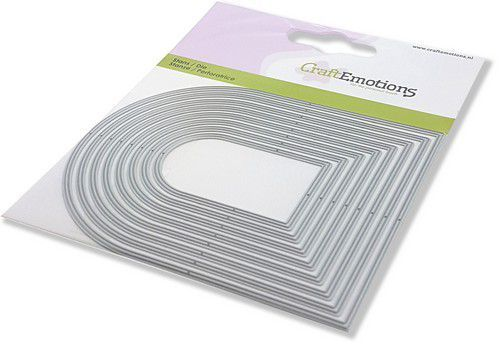 CraftEmotions Die - randen toog Card 11x9cm - 5,2 - 10,8 cm (02-21)