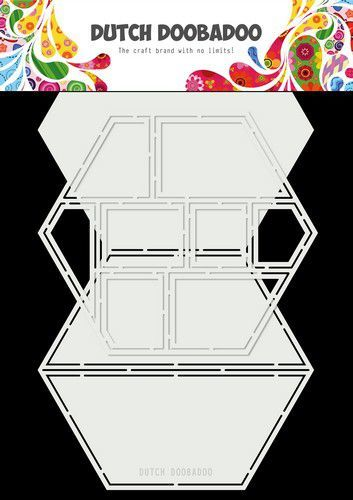 Dutch Doobadoo Dutch Card Art Easel Card Hexagon 2st 470.713.850 15x26cm (02-21)