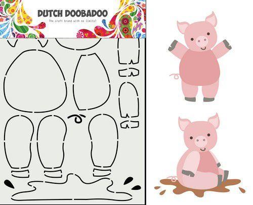 Dutch Doobadoo Dutch Card Art Built up Varkentje 470.713.858 14,95x21cm (02-21)