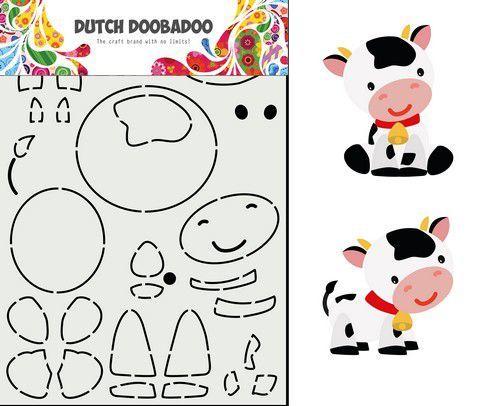 Dutch Doobadoo Dutch Card Art Built up Koe 470.713.859 14,95x21cm (02-21)