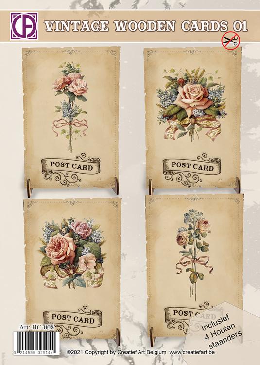Wooden Vintage Cards 01