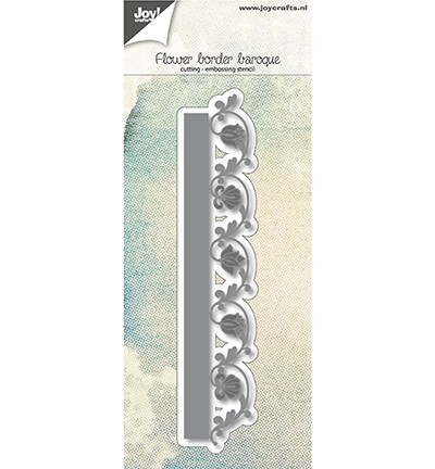 6002/1124 Snij-embosstencil Bloemenrand barok