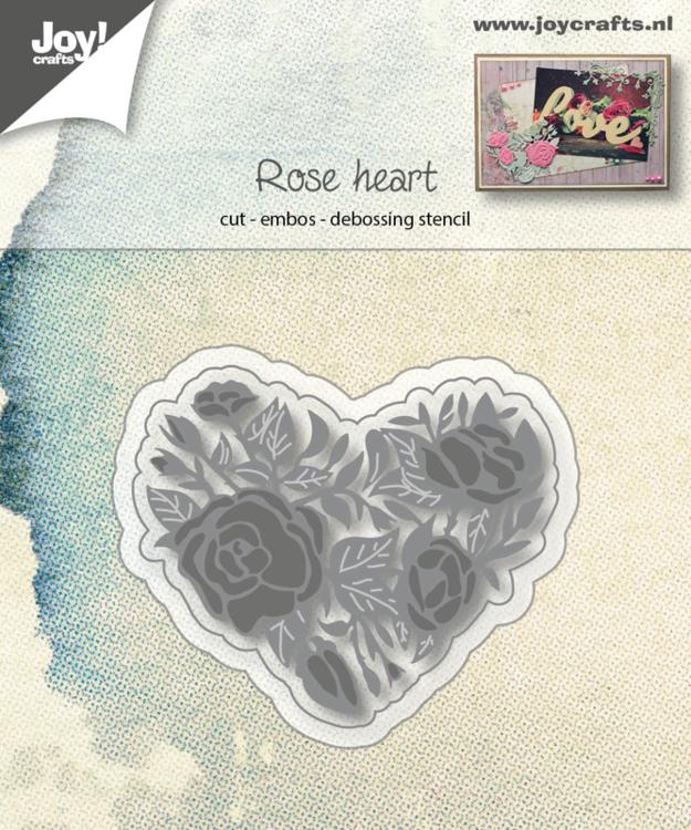 Snij-embos-debosstencil - Rozenhart
