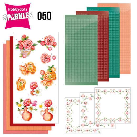 Sparkles Set 50 -Jeanine's Art - Orange Flowers