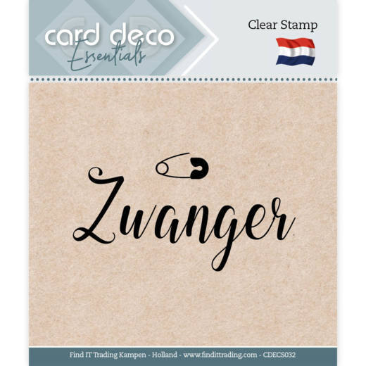Card Deco Essentials - Clear Stamps - Zwanger
