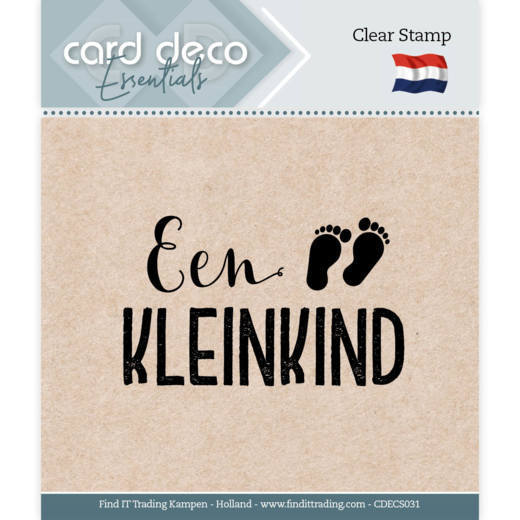 Card Deco Essentials - Clear Stamps - Een Kleinkind