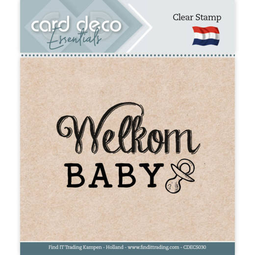 Card Deco Essentials - Clear Stamps - Welkom Baby