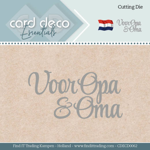 Card Deco Essentials - Dies - Voor Opa & Oma