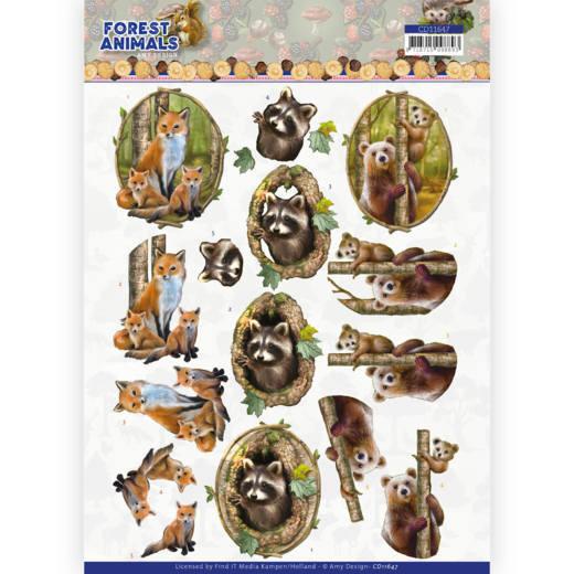 3D cutting sheet - Amy Design  Forest Animals - Fox