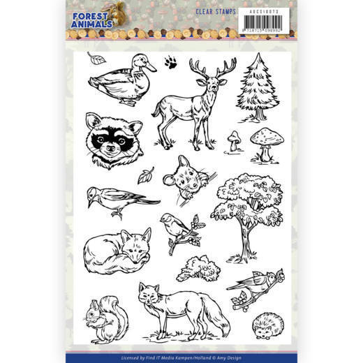 Clear Stamps - Amy Design  Forest Animals
